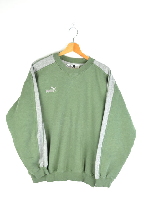 Khaki Puma Crewneck Medium M