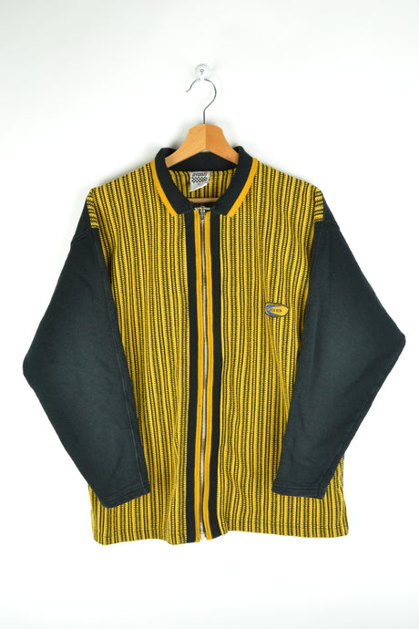 90s ZIp Jacket Black/Yellow Medium M
