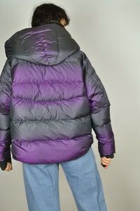Recent NIKE Purple Iridescent Down Jacket - Size M