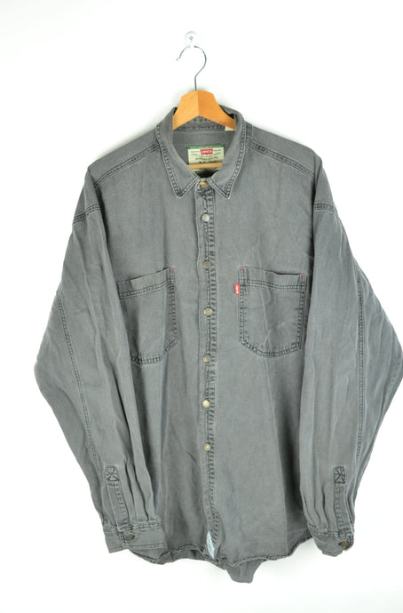 Light Gray Levi's Long Sleeved Shirt XL
