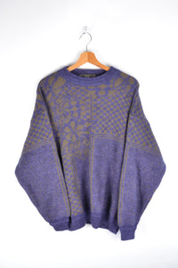 80s Purple Alpaga Sweater Large L