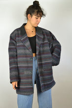 Load image into Gallery viewer, Fitted 80 Patterned Wool Jacket XL