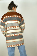 Load image into Gallery viewer, 80s Aztec Wool Jacket Medium M