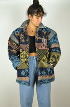 Load image into Gallery viewer, RARE 80s Patterned Aztec Coat Medium M S