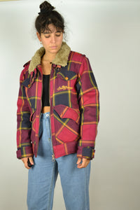 Lee Cooper Checkered Plaid Winter Jacket S M
