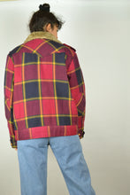 Load image into Gallery viewer, Lee Cooper Checkered Plaid Winter Jacket S M