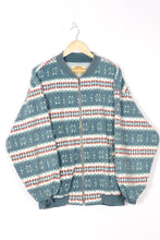 Load image into Gallery viewer, Zipped Fleece Jacket Vintage 80s Large L