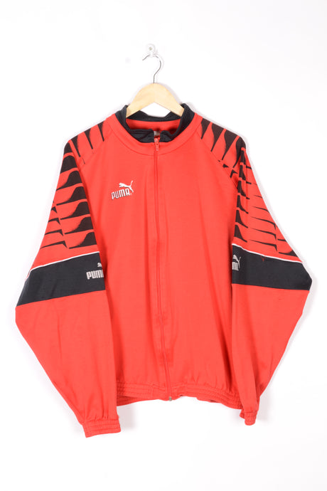 Puma Red Track Jacket vintage 90s Large L XL