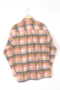 Checkered Men's Flannel Shirt Large L