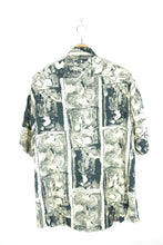 Load image into Gallery viewer, Black/Beige Abstract Patterns Light 90s Shirt Large