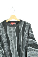 Load image into Gallery viewer, Black/White Patterned Sweater Coogi Style Oversized XXL
