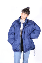 Load image into Gallery viewer, NIKE Blue Down Parka Jacket 90s Oversized XL