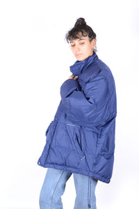 NIKE Blue Down Parka Jacket 90s Oversized XL