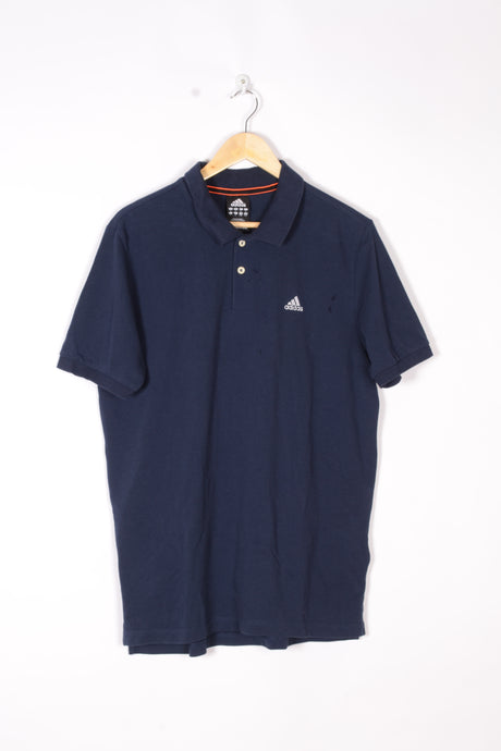 Adidas Blue Polo Shirt Large L