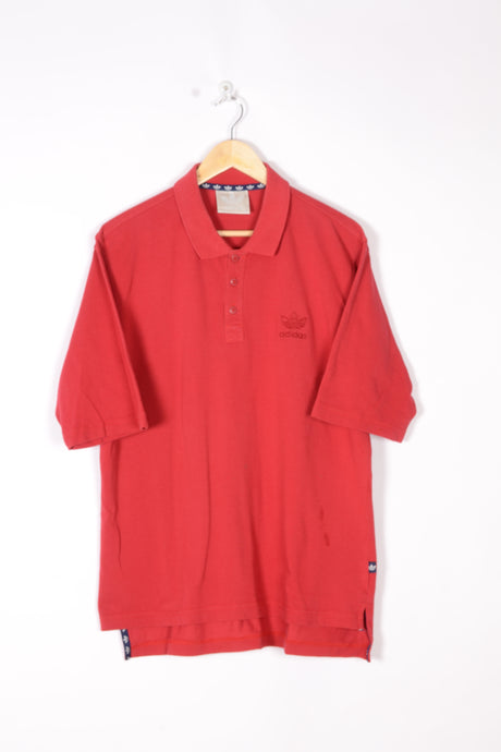 Adidas Red Polo Shirt Large L