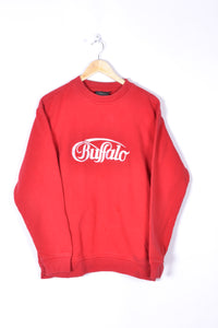 Buffalo Sweatshirt Vintage 90s Red Large L