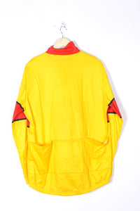 Campagnola Long Sleeves Shirt  Vintage 80s Yellow/Red Large L