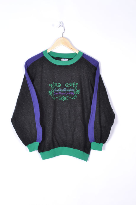 80s design Sweatshirt Vintage Black Small S