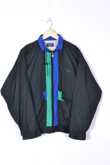 Fred Perry Colorblock Shell Jacket Vintage 80s Medium M