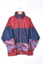 Load image into Gallery viewer, 90s Neon Rain Jacket Vintage Oversized XL