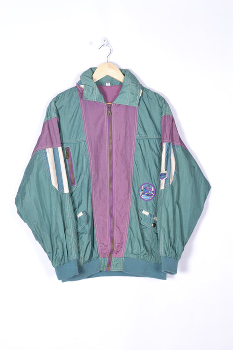 80s American Football Shell Jacket Large L