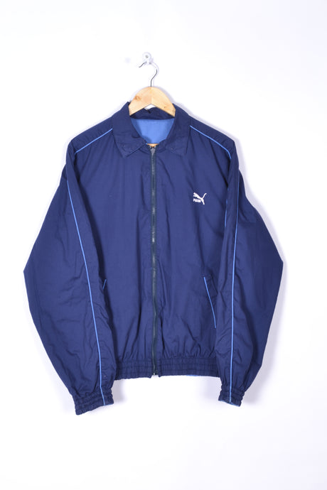 Puma Shell Jacket Vintage 90s Blue/Dark Blue Large L