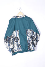 Load image into Gallery viewer, 90s Color Block  Shell Jacket Vintage Green/Grey Medium M