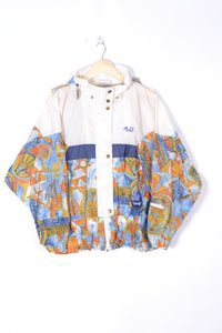 80s Women's Waterproof Raincoat Large L