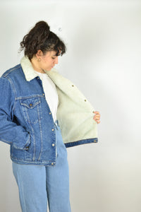 Levi's Shearling Denim Jacket Medium M