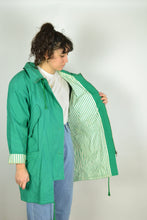 Load image into Gallery viewer, 90s Long Green Hooded Parka Medium M L
