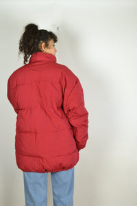 Red Down Jacket Vintage 90s Large L