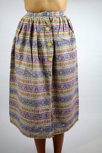 Load image into Gallery viewer, Liberty Long Skirt with Floral Patterned Vintage 70s Small S XS