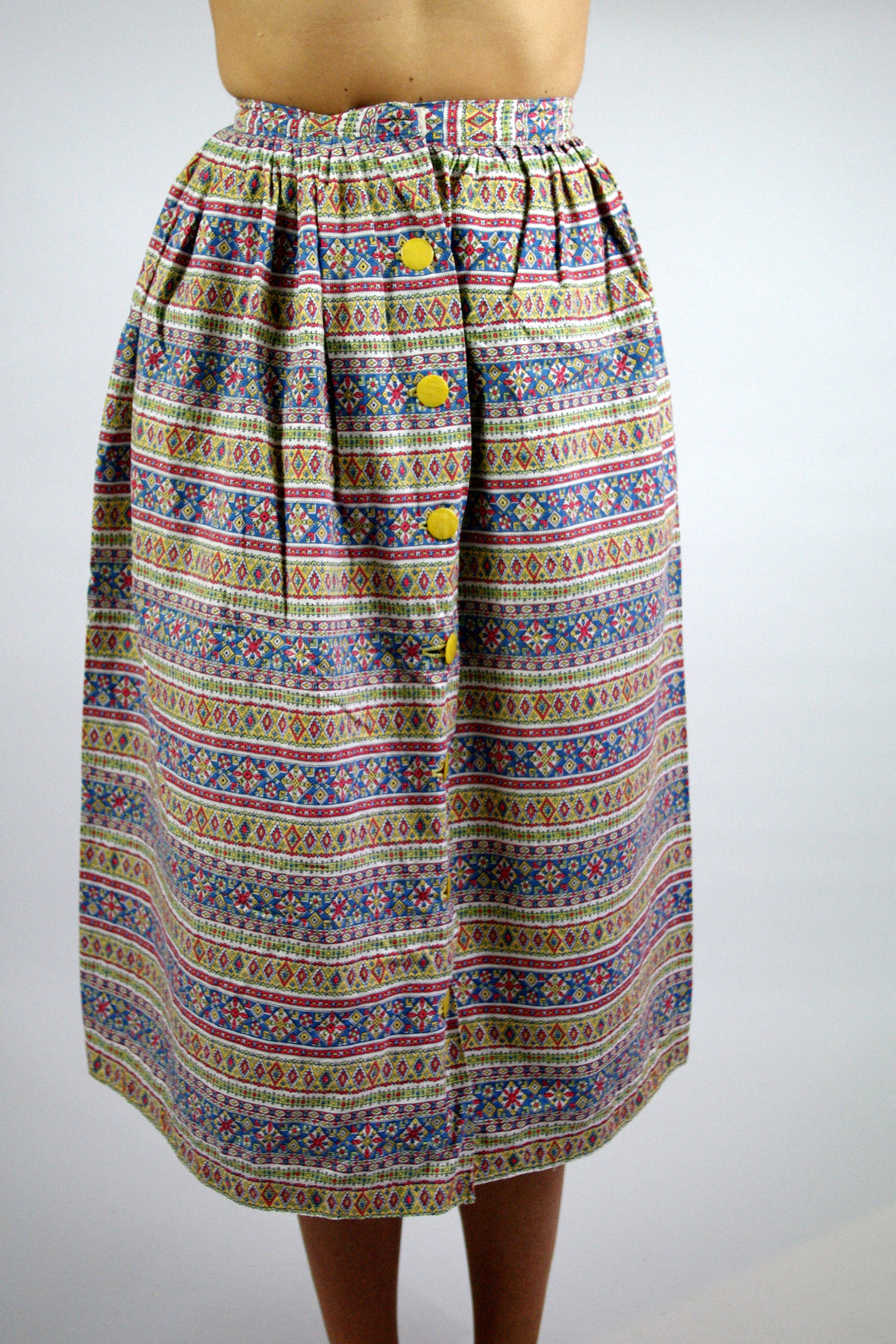 Liberty Long Skirt with Floral Patterned Vintage 70s Small S XS