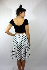 Dotted Skirt Vintage 90s Black/White Medium M