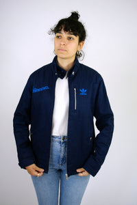 Adidas Worker Style Jacket Vintage 90s Blue Small S