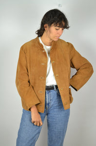 Brown Suede Jacket Vintage 70s Medium M