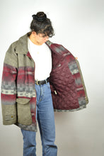 Load image into Gallery viewer, Sheepskin Wool Coat Vintage 80s Oversized XL