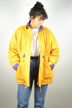 Load image into Gallery viewer, Long Classic Yellow Parka Jacket Vintage 90s Medium M Large L