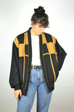 Load image into Gallery viewer, 70s Retro Thin Bomber Jacket Vintage Large L