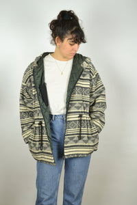 Abstract Patterns Jacket Vintage 80s 90s Medium  M