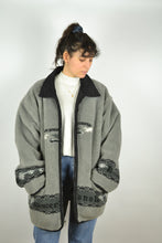 Load image into Gallery viewer, Long Fleece Jacket Reversible Vintage 90s Oversized XL