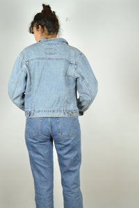 LEVI'S Light Blue Denim Jacket Vintage 90s Blue Jean Small S