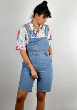 Load image into Gallery viewer, Denim Short Overalls Vintage 90s Small Medium M