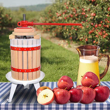 Load image into Gallery viewer, ejwox 1.6 Gallon Wooden Wine/Cider/Fruit Press
