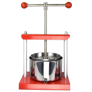 ejwox 0.53 Gallon Stainless Steel Tabletop Wine/Cider/Fruit Press