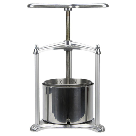 EJWOX Tabletop Wine/Cider/Fruit Press  Aluminum - 0.8/1.6 Gallon - EJWOX Products Inc