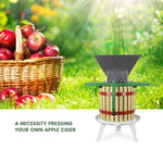 EJWOX Fruit and Apple Crusher - 7L Manual Juicer Grinder-Stainless Steel (1.8 Gallon,Green) - EJWOX Products Inc