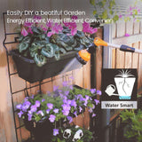 EJWOX Vertical Raised Garden Bed with 5 Self Watering Pots - Indoor Outdoor Elevated Freestanding Kit, Water-Smart Design - EJWOX Products Inc