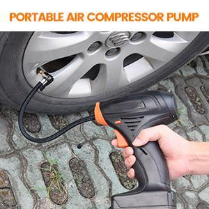 Portable Cordless Tire Inflator Automatic Air Compressor with Easy to Read Digital Pressure Gauge, Built-in LED Light