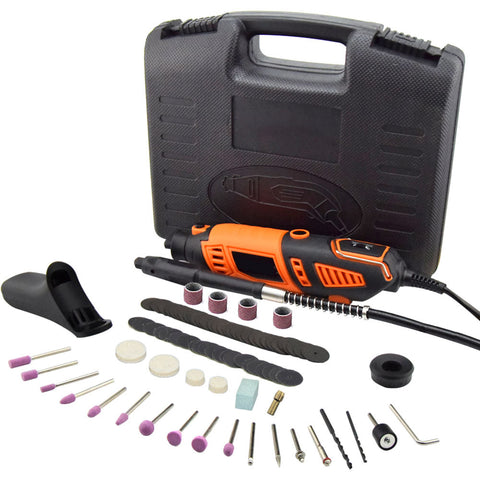 Variable Speed Rotary Tool Kit w/ Flex Shaft (101 Pieces) - EJWOX Products Inc